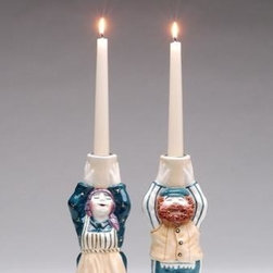 ATD - Set of 2 Porcelain a Blessing on Your Head Decorative Candle Holders - This gorgeous Set of 2 Porcelain a Blessing on Your Head Decorative Candle Holders has the finest details and highest quality you will find anywhere! Set of 2 Porcelain a Blessing on Your Head Decorative Candle Holders is truly remarkable.