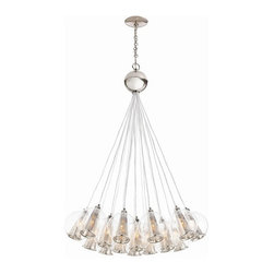 Arteriors Home - Arteriors Home Caviar Adj Polished Nickel/Clear Glass Bouquet - Arteriors Home D - Drop this enchanting light from your ceiling and you'll think you've been blowing bubbles. Delicate glass spheres combine with threadlike polished nickel cords to give you an ethereal, romantic ambiance. This glass bouquet would look stunning in your foyer, dining room or living room. If you're very daring, hang one in your bath for an elegant, unusual design. You'll be forever blowing bubbles.