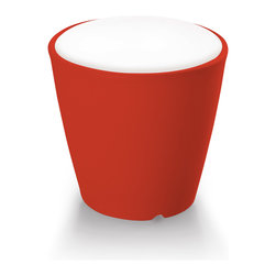 Domitalia - Red Omnia Vase / Seat with Cushion - -Pot/Vase/seat/Table
