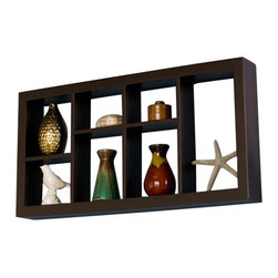 Southern Enterprises - Southern Enterprises Taylor Display Shelf in Espresso - Southern Enterprises - Wall Display Shelves - EN5241. These elegant display cubes are a perfect solution for all your decor needs! This cube display shelf will provide an easy way to update any wall, whether in a traditional or contemporary setting. A cool and contemporary way to show off souvenirs, small treasures or art, this wall cube creates a dynamic arrangement in a living or dining room.