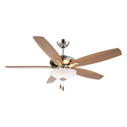 "Minka Aire - Minka Aire F522-BN Mojo Brushed Nickel 52"" Ceiling Fan + Low Profile Light - Features Low Profile Light Kit"