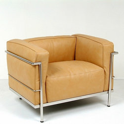 Modern Classics - Le Corbusier: LC3 Feathers Relaxed Lounge Chair Reproduction - Features: