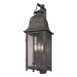 "Troy Lighting - Troy Lighting B3212 Larchmont 3 Light Outdoor Wall Sconce with Seedy Glass - Troy Lighting B3212 Larchmont 3 Light 25"" High Outdoor Wall SconceThe lights of the Larchmont Collection will illuminate your exterior with beautiful classic styling.Troy Lighting B3212 Features:"
