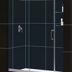 DreamLine - DreamLine Mirage Frameless Sliding Shower Door and 32x60-inch Shower Base - This kit pairs a MIRAGE sliding shower door and coordinating SlimLine shower base to completely transform a shower space. DreamLine shower kits deliver an efficient yet elegant solution with the look of custom glass at an exceptional value.