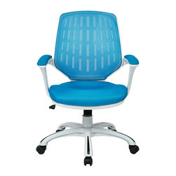Ave Six - Calvin Office Chair, Blue - The Calvin Office Chair is an ergonomic mesh-back design by Ave Six of Office Star.  Available in 4 distinct colors, this product ships direct in about 24 hours.