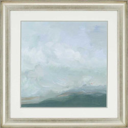 """Paragon Decor - Mountain Mist I Artwork - Bring a little serenity into your home with this piece, """"Mountain Mist I"""" which illustrates that enchanting point where clouds and fog roll over mountaintops, enveloping them in a contest of density. This piece can be displayed alone, but looks best with its sister piece, """"Mountain Mist II"""" This piece measures 35 inches wide, 2 inches deep, and 35 inches high."""