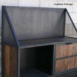 Vintage Industrial/Urban/Modern Bar Cart, Liquor Cabinet. Loft Decor. -