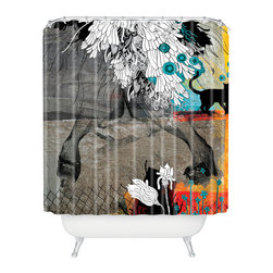 DENY Designs - Iveta Abolina Stay Awhile Shower Curtain - Who says bathrooms can't be fun? To get the most bang for your buck, start with an artistic, inventive shower curtain. We've got endless options that will really make your bathroom pop. Heck, your guests may start spending a little extra time in there because of it!