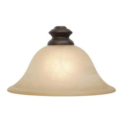 Golden Lighting - Lancaster RBZ Neckless Glass Shade - Fitter hole from 1.5 to 1.75 in.. Antique marble glass shade. 7.5 in. Dia. x 4 in. H. Warranty