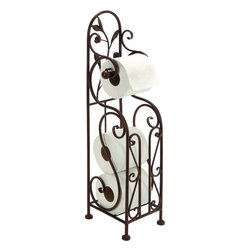 Benzara - Metal Toilet Paper Holder For Bathroom - 63149 METAL TOILET PAPER HOLDER is a beautifully designed bathroom - toilet furnishing and decor addition with great utility.