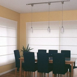 Roman Shades - Blocking the sun in your dining area