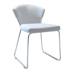 MODLOFT - MODLOFT Delancy Dining Chair - This dining chair is aesthetically balanced with originality and ergonomic design. Chair measures 21W x 22D x 30H with a seat height of 19 in. Price for each, sold by pair only. Imported.