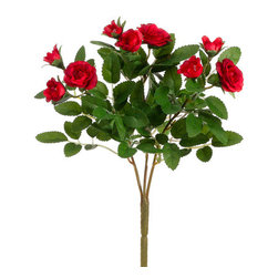 Silk Plants Direct - Silk Plants Direct Mini Rose Bush (Pack of 36) - Red - Pack of 36. Silk Plants Direct specializes in manufacturing, design and supply of the most life-like, premium quality artificial plants, trees, flowers, arrangements, topiaries and containers for home, office and commercial use. Our Mini Rose Bush includes the following: