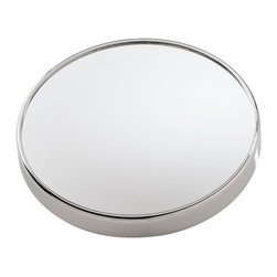Gedy - Wall Mounted Mirror with Suction Cups with 5x Magnification - A luxury magnifying mirror for your high-end master bath.