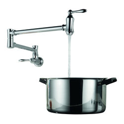 Delta - Wall Mounted Pot Filler Faucet in Chrome - Delta 1177LF Wall Mounted Pot Filler Faucet in Chrome.