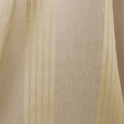 Linen Sheer Vertical Stripe Raffia Drapery in Natural - Linen Sheer Vertical Stripe Raffia Drapery Fabric in Natural Cream. Striped fabric ideal for drapes, curtains, and other window treatments, or bed canopy.