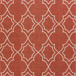 """Surya - Surya Alfresco ALF-9591 (Brick, Ivory) 7'6"""" x 10'9"""" Rug - The beautiful rugs in the Alfresco Collection can be used on the porch, deck, and patio or hose them down and use them in your kitchen, sunroom, or bathroom! This versatile collection offers rugs that are stain, humidity, and UV ray resistant. Complement your home dEcor with the beauty of Alfresco rugs that flow smoothly with your lifestyle. -100% Polypropylene -Outdoor -Made in Egypt"""