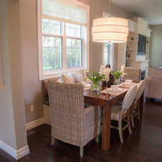 Transitional Dining Room by Erin Interiors