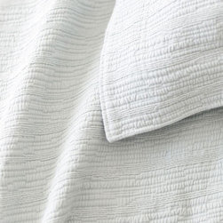 Pine Cone Hill - hardwood matelasse coverlet (canopy blue) - A modern take on the matelasse coverlet with a tone-on-tone, branchlike stripe. An ideal natural texture in a versatile neutral.��This item comes in��canopy blue.��This item size is��various sizes.