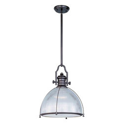 Maxim Lighting - Maxim Lighting 25004CLBZ Hi-Bay Bronze Pendant - 1 Bulb, Bulb Type: 100 Watt Incandescent