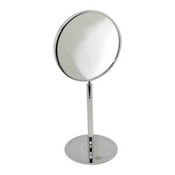 "Decor Walther - Decor Walther SPT 11 Cosmetic Mirror - The SPT 11 Cosmetic Mirror cosmetic mirror has been designed and made by Decor Walther.   With the SPT 11 provides Decor Walther sumptuous bathrooms front  accessories, which stand out with its high quality finish, the best  materials and harmonious design. with a ball joint on a high level of  flexibility is assured as you head of the SPT 11 thus can easily rotate  in all direction. since the vanity mirror even has two sides (1st Reiner  mirror, no magnification /2 mirror with 7-flod increas), it is suitable  for many applications. The surface SPT 11 frame is fully chromed.  Product Details:  The SPT 11 Cosmetic Mirror cosmetic mirror has been designed and made by Decor Walther.   With the SPT 11 provides Decor Walther sumptuous bathrooms front accessories, which stand out with its high quality finish, the best materials and harmonious design. with a ball joint on a high level of flexibility is assured as you head of the SPT 11 thus can easily rotate in all direction. since the vanity mirror even has two sides (1st Reiner mirror, no magnification /2 mirror with 7-flod increas), it is suitable for many applications. The surface SPT 11 frame is fully chromed.  Details:                                      Manufacturer:                                      Decor Walther                                                                  Designer:                                     In House Design                                                                  Made in:                                     Germany                                                                  Dimensions:                                      Diameter: 7.09"" (18 cm) X Heigh: 15.35"" (39 cm)                           Diameter Base: 5.51"" (14 cm)                                                     Material:                                      Metal"