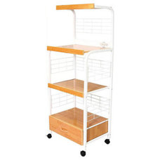 Kitchen Islands And Kitchen Carts White 3-tier Microwave Cart