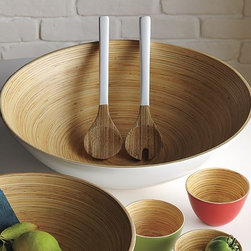 Bamboo Salad Servers - Mixed-media utensils bring natural, modern style to everyday dining and special entertaining.