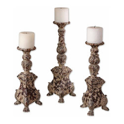 "19304 Salerno, Candleholders, Set/3 by Uttermost - Get 10% discount on your first order. Coupon code: ""houzz"". Order today."