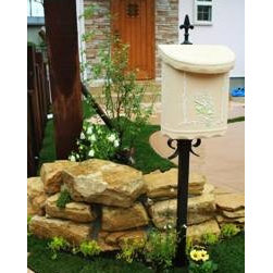 Qualarc, Inc. - Wall Mount Bouquet Composite Mailbox, Beige - Dea's Garden Mailbox Collection