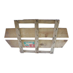 Tomato Crate Covers - Top portion of French wooden tomato crate with orginal label.