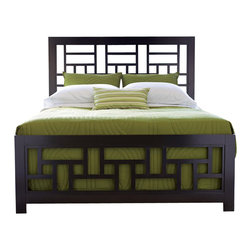Broyhill - Broyhill Perspectives Lattice Bed in Graphite Finish - Broyhill - Beds - 4444LatticeBed - About This Product: