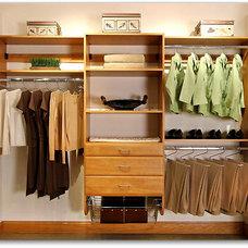 Contemporary Closet Storage by Marco Closets