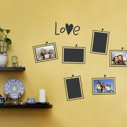 Photo Love Wall Decal - Photo Frames - This is a very fun and unique solution to displaying photo's in you home!