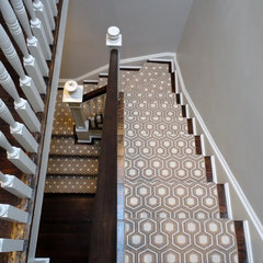 traditional staircase by Zoe Feldman Design, Inc.