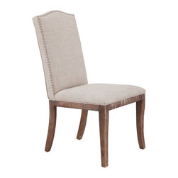 "Zuo - ""Zuo Lombard Chair (Set of 2), Beige"" - ""Dimensions (W x L x H): 20.9"""" x 24"""" x 39.6""""Seat Height: 17.7""""Seat Depth: 18""""Seat Width: 20.9""""Cubic Feet: 17.66Weight: 36.5 lbsProduct Cover: Polyester LinenProduct Material: Oak WoodAssembly Required: No"""