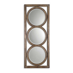 Grace Feyock - Grace Feyock Isandro Traditional Round Mirror X-B 33531 - Made Of Hand Forged Metal, This Frame Features And Open Design That Allows Wall Color To Show Thru And Is Finished In Silver Undertones With A Black-gray Wash And Burnished Edges. Mirrors Are Beveled. May Be Hung Either Horizontal Or Vertical.