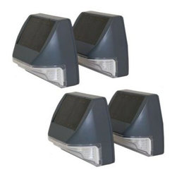 Smart Solar - Smart Solar Outdoor Lighting. Solar Black Wall Light (4 Pack) - Shop for Lighting & Fans at The Home Depot. Conveniently add lighting to your walk ways, paths, and outdoor steps. Simple and easy to mount to any surface or wall and a great way to light up your pathways. Solar panels on top of each unit charge the rechargeable Ni-MH batteries during the day, and when the sun sets, they illuminate your pathway. Each unit contains 2 each of energy saving, long lasting white LEDs.