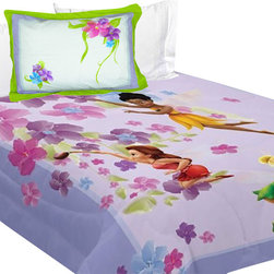 Store51 LLC - Disney Fairies Twin Comforter Set Magic Art Bedding - FEATURES: