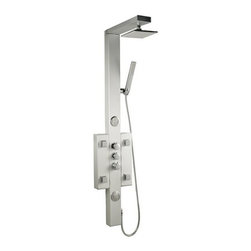 Hudson Reed - Shower Panel Tower System - Perfect for creating a contemporary look to any bathroom, the Hudson Reed thermostatic shower panel will transform your daily shower r