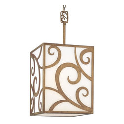 Canter White Pierre Lantern - Made of frosted glass and hand-worked wrought iron, this is the kind of light fixture that makes any room feel special and sophisticated.