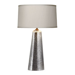 Robert Abbey - Robert Abbey Gossamer Tall Table Lamp 3369 - Distressed Mercury Glass with Aged Brass Finished Accents