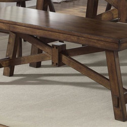 Liberty Furniture - Creations II Dining Bench - Rectangular shape. Warranty: One year. Made from select hardwoods. Tobacco finish. Made in Malaysia. 48 in. L x 14 in. W x 18 in. H (55 lbs.)