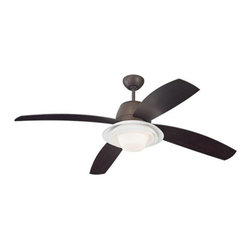"Monte Carlo - Monte Carlo Icon 4 Blade 52"" Ceiling Fan - Blades, Light Kit, Bulbs, and Wall Co - Features:"