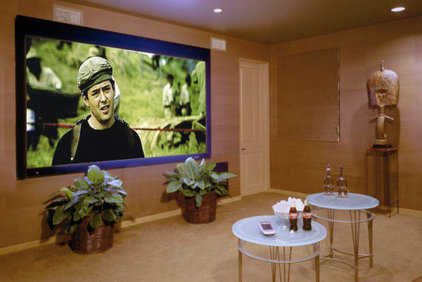 Contemporary Home Theater by Richens Designs, Inc.