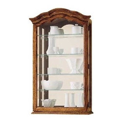 Miller - Vancouver II Wall Curio Cabinet - This versatile wall cabinet ...