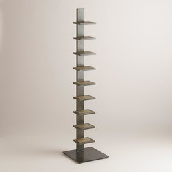 World Market - Elin Tower Bookshelf - Transform books and magazines into a stylish display with our Elin Tower Bookshelf. This sturdy storage solution adds a chic touch to the living room or bedroom at a fantastic value.