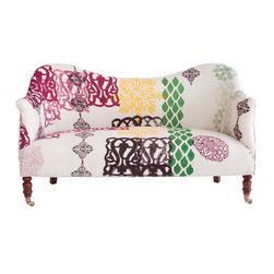 John Robshaw Dromedary Love Seat - This smashing and unique loveseat is one of John Robshaw's one-of-a-kind finds that will be the star of whichever room you place it in, whether it's in the center of the living room or at the end of your bed.