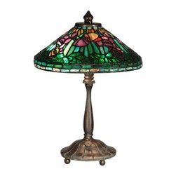Dale Tiffany - Dale Tiffany TT10332 Poppy Shade Table Lamp - Dale Tiffany TT10332 Poppy Shade Table Lamp with 2 LightsCreate a fresh sense of style in your home with this unique Poppy Shade Table Lamp with 2 Lights. This table lamp by Dale Tiffany utilizes a great Antique Verde finish. This lamp is a wonderful way to augment the lighting in your room with style.Dale Tiffany TT10332 Features: