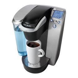 Keurig - Keurig K75 Platinum Edition Single Serve Coffee Maker Kit, Platinum - Features: