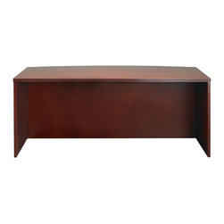 "Mayline - Mayline Luminary Straight Front 72"" Wood Credenza Desk in Cherry Finish - Mayline - Computer Desks - DKS3672C - Designed with today�s sensible buyer in mind, the Luminary Series by REAL Office provides quality and a versatile line of veneer case goods at an amazing price. Luminary is available in two finishes with AA-grade North American hardwood veneers used throughout."